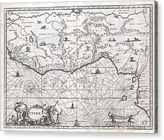 1670 Ogilby Map Of West Africa  Gold Coast Slave Coast Ivory Coast Acrylic Print by Paul Fearn
