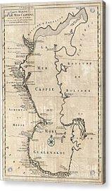 1730 Van Verden Map Of The Caspian Sea Acrylic Print by Paul Fearn