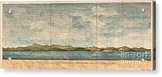 1748 Anson View Of Zihuatanejo Harbor Mexico Acrylic Print by Paul Fearn
