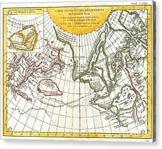 1772 Vaugondy And Diderot Map Of The Pacific Northwest And The Northwest Passage Acrylic Print by Paul Fearn