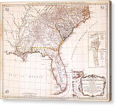 1776 - The Seat Of War In The Southern British Colonies Acrylic Print by Kayleigh Green