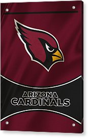 Arizona Cardinals Uniform Acrylic Print by Joe Hamilton