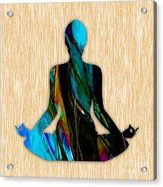 Fitness Yoga Acrylic Print by Marvin Blaine