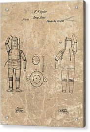 1838 Diving Armor Patent Acrylic Print by Dan Sproul