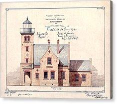 1872 Erie Harbor Lighthouse Acrylic Print by Jon Neidert