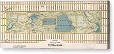 1875 Central Park Map Acrylic Print by Dan Sproul