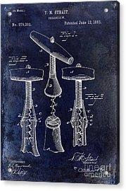 1883 Corkscrew Patent Drawing Acrylic Print by Jon Neidert