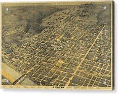 1887 Austin Texas Map Acrylic Print by Dan Sproul
