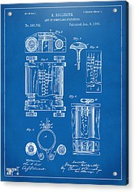 1889 First Computer Patent Blueprint Acrylic Print by Nikki Marie Smith