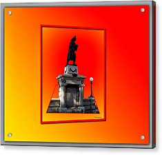 1898 Firemen Memorial Acrylic Print by Thomas Woolworth