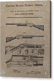 1900 Firearm Patent  Acrylic Print by Dan Sproul