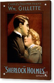 1900s Uk Sherlock Holmes Poster Acrylic Print by The Advertising Archives