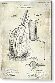 1903 Tennis Court Marker Patent Drawing Acrylic Print by Jon Neidert