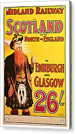 1904 Scotland - Vintage Travel Art Acrylic Print by Presented By American Classic Art
