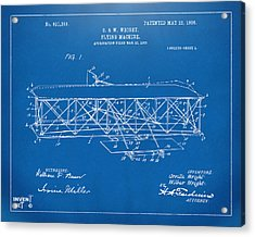 1906 Wright Brothers Flying Machine Patent Blueprint Acrylic Print by Nikki Marie Smith
