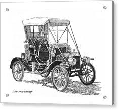 1911 Ford Model T Tin Lizzie Acrylic Print by Jack Pumphrey