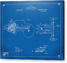 1911 Henry Ford Transmission Patent Blueprint Acrylic Print by Nikki Marie Smith