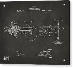 1911 Henry Ford Transmission Patent Gray Acrylic Print by Nikki Marie Smith