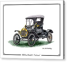 1915 Ford Model T Poster Acrylic Print by Jack Pumphrey