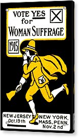 1915 Vote Yes On Woman's Suffrage Acrylic Print by Historic Image