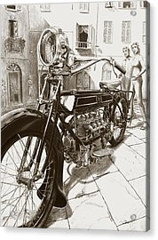 1922 F/n Acrylic Print by Norman Bean