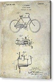 1924 Bicycle Patent Drawing Acrylic Print by Jon Neidert
