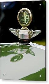 1927 Chandler 4-door Hood Ornament Acrylic Print by Jill Reger