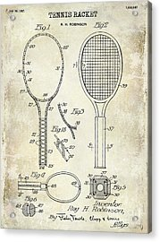 1927 Tennis Racket Patent Drawing  Acrylic Print by Jon Neidert