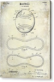 1928 Baseball Patent Drawing  Acrylic Print by Jon Neidert
