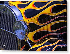 1929 Model A 2 Door Sedan With Flames Acrylic Print by Garry Gay