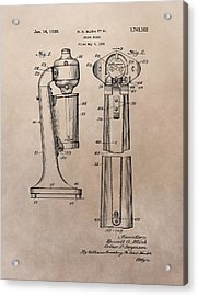 1930 Drink Mixer Patent Acrylic Print by Dan Sproul