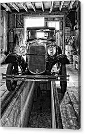 1930 Model T Ford Monochrome Acrylic Print by Steve Harrington