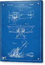 1931 Aircraft Emergency Floatation Patent Blueprint Acrylic Print by Nikki Marie Smith