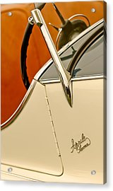 1931 Alfa Romeo 6c 1750 Gran Sport Aprile Spider Corsa Steering Wheel Acrylic Print by Jill Reger