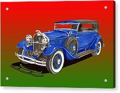 1931 Lincoln K Four Door Convertible Acrylic Print by Jack Pumphrey