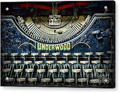 1932 Underwood Typewriter Acrylic Print by Paul Ward