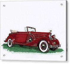 1933 Cadillac Convert Victoria Acrylic Print by Jack Pumphrey