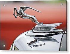 1933 Chrysler Cl Imperial Custom Dual Windshield Phaeton Hood Ornament Acrylic Print by Jill Reger