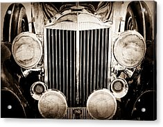 1933 Packard 12 Convertible Coupe Classic Car Acrylic Print by Jill Reger