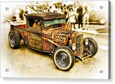 1934 Ford Rusty Rod Acrylic Print by motography aka Phil Clark