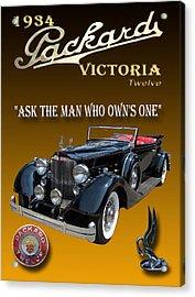 1934 Packard Acrylic Print by Jack Pumphrey