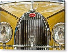 1935 Bugatti Type 57 Roadster Grille Acrylic Print by Jill Reger