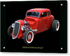 1935 Ford 5 Window Coupe Acrylic Print by Jack Pumphrey