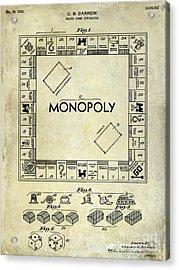 1935 Monopoly Patent Drawing Acrylic Print by Jon Neidert