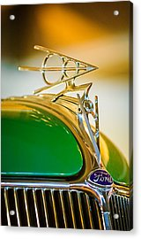 1936 Ford Deluxe Roadster Hood Ornament Acrylic Print by Jill Reger