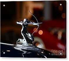 1936 Pierce Arrow Hood Ornament Acrylic Print by Paul Ward
