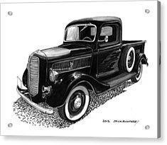 1937 Ford Pick Up Truck Acrylic Print by Jack Pumphrey