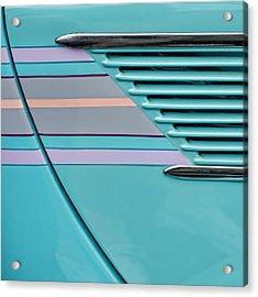 1937 Ford Sedan Slantback Door Detail Acrylic Print by Carol Leigh