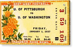 1937 Rose Bowl Ticket Acrylic Print by David Patterson