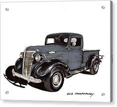1938 Chevy Pickup Acrylic Print by Jack Pumphrey